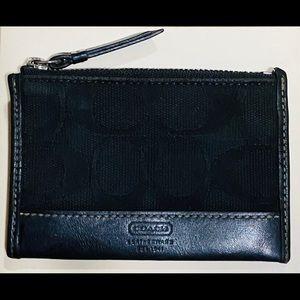 COACH Classic black signature coin purse